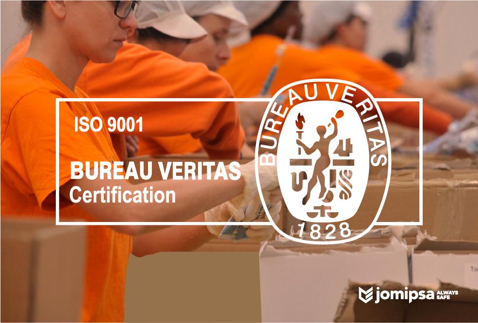 Jomipsa ISO 9001: 2015 certification
